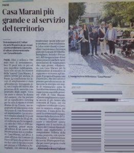 2019 inaugurazione nuova Casa Marani Paese